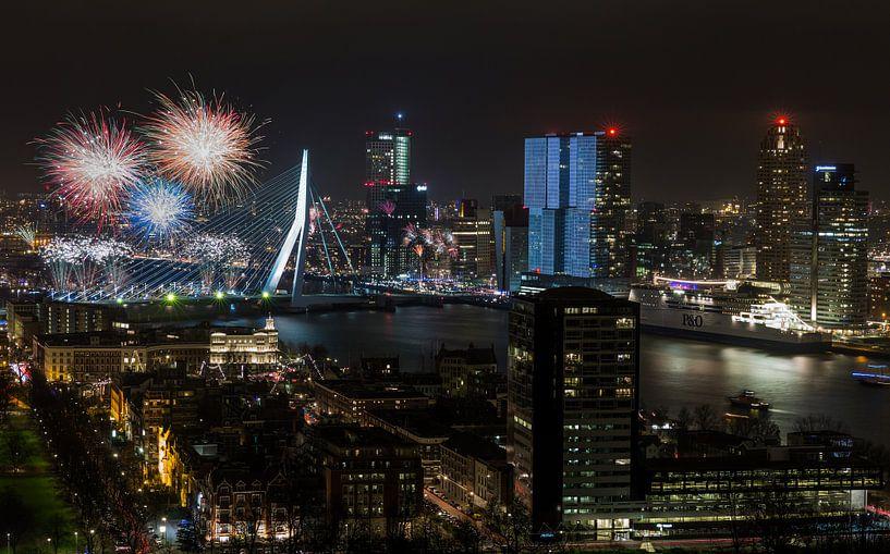 Nationaal Vuurwerk 2015 in Rotterdam van MS Fotografie | Marc van der Stelt