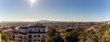 Panorama van Barcelona tot zee van thomas van der Wijngaard