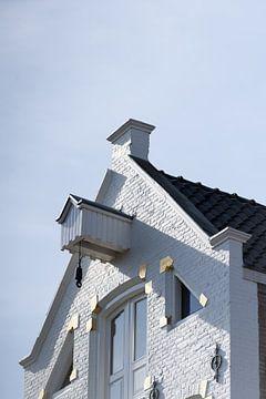 Wit pakhuis in Groningen van Foto's uit Groningen