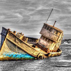 Gezonken schip van Bob Karman