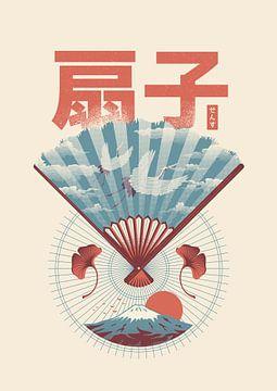 Sensu Japanse waaier van Rene Hamann