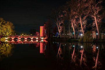 Red Lake of Love (2) van Stefan Bauwens Photography