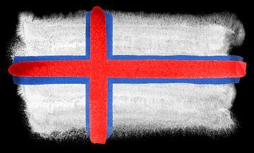 Symbolische Nationalflagge der Färöer Inseln von Achim Prill