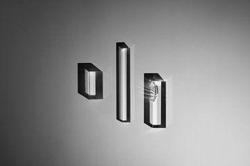 abstracte zwart/wit foto sur Anneloes van Dijk