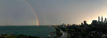 'Dubbele regenboog', Chicago van Martine Joanne