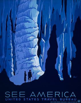 Zie Amerika: Cavernes van Vintage Afbeeldingen
