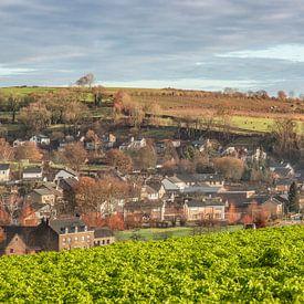 Panorama des Kirchdorfs Eys in Südlimburg von John Kreukniet