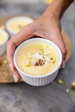 Roompuddinkjes met citroentijm van Nina van der Kleij