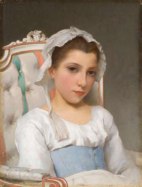 Portrait eines Mädchens, Hugo Salmson von Meesterlijcke Meesters