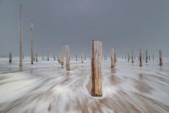Spingtide at Dutch Beach von Jacqueline de Groot