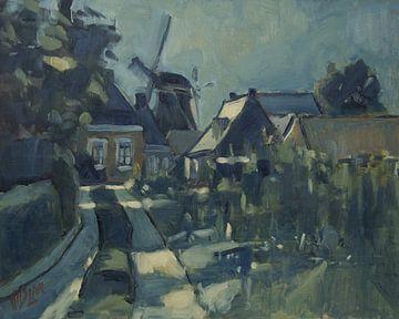 Mondschein in Winsum von Nop Briex