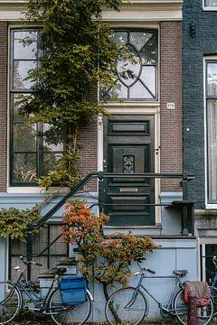 Tür eines Grachtenhauses in Amsterdam von Manon Galama