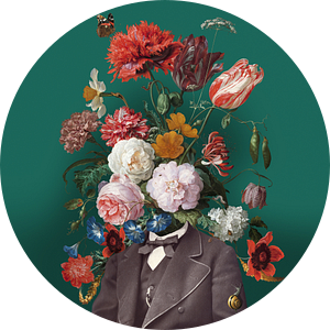 Zelfportret met bloemen 3 van toon joosen
