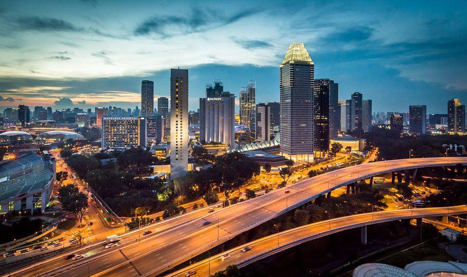 Singapore gezien vanaf de Flyer (1) van Peter Postmus