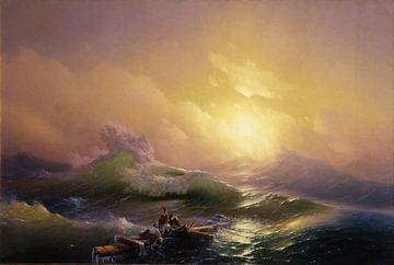 Hovhannes Aivazovsky, Die neunte Welle - 1850 von Atelier Liesjes