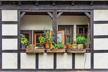 Balkonen auf der Krämerbrücke Erfurt von Gunter Kirsch