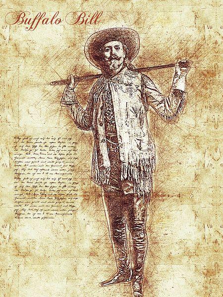 Buffalo Bill van Printed Artings