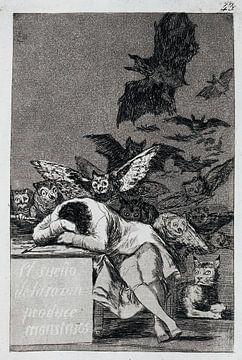 Francisco Goya, Der Schlaf der Vernunft bringt Ungeheuer hervor - 1799