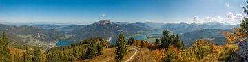 Panorama-Blick auf den Wolfgangsee im Herbst von Katharina Utsch