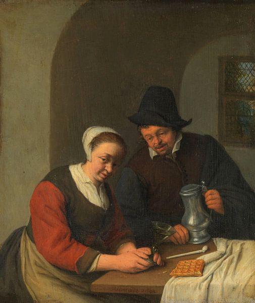 Die vertrauliche Pflege, Adriaen van Ostade von Meesterlijcke Meesters