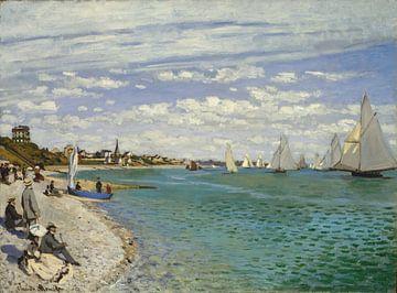 Régates à Sainte-Adresse, Claude Monet sur