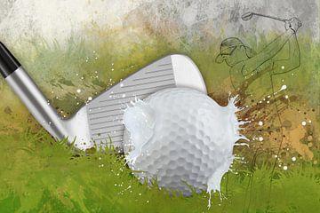 Le sport rencontre l'éclaboussure - Golf sur Erich Krätschmer