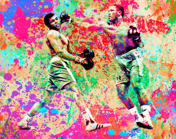 Muhammad Ali vs Joe Frazier Sport Pop Art PUR van Felix von Altersheim