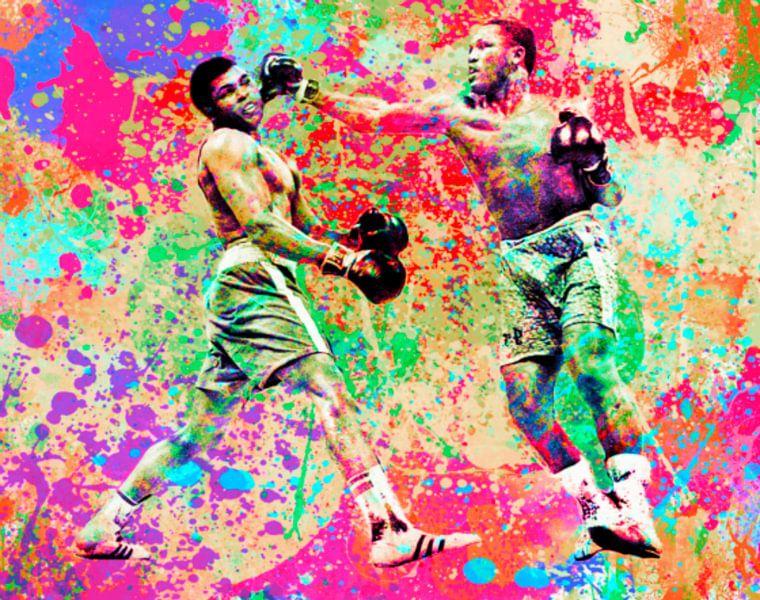Muhammad Ali vs Joe Frazier Sport Pop Art PUR von Felix von Altersheim