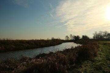 Vaart in natuurgebied in Groningen van Pim van der Horst