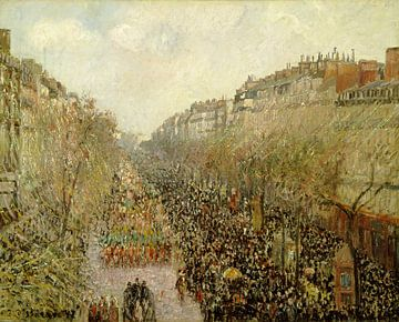 Boulevard Montmartre: Mardi Gras, Camille Pissarro sur