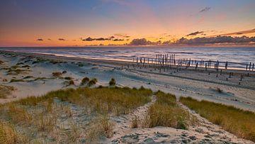 Sonnenuntergang Nordseestrand bei Petten von Jenco van Zalk