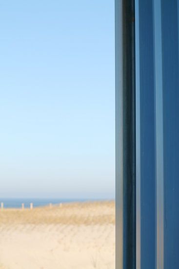Strand pracht in het blauw
