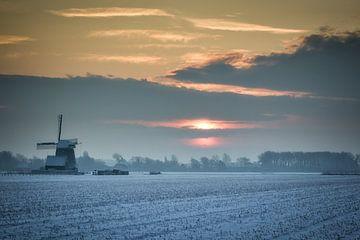Niederländische Winterlandschaft von eric van der eijk