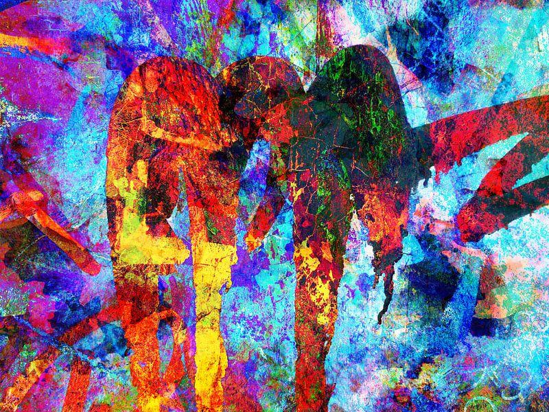 Modern, Abstract kunstwerk - I Do Whatever It Takes van Art By Dominic