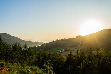 Sonnenuntergang in Preikestolen von Eline Huizenga