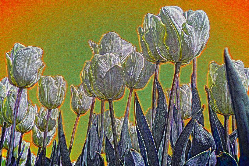 Tulpen in de lente, impressionistisch van Rietje Bulthuis
