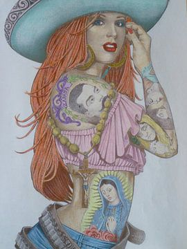 pretty in tattoo van Edith Boogaard van den