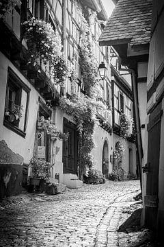 Straße in Eguisheim, Elsass von Michiel Mulder