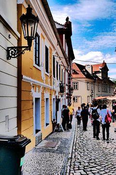 Praag - Romantisch straatje van Wout van den Berg