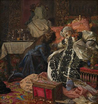 La mort de la reine Sophie Amalie, Kristian Zahrtmann