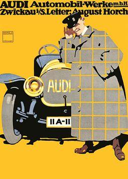 Audi Automobile Poster, Ludwig Hohlwein - 1912 van Atelier Liesjes