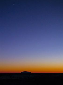Zonsopkomst bij de Uluru of Ayers Rock, Australië van