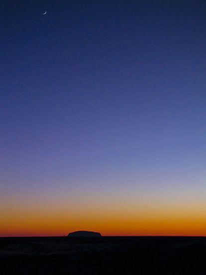 Zonsopkomst bij de Uluru of Ayers Rock, Australië
