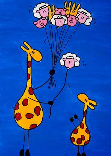 giraffen bilder auf poster leinwand alu dibond und als. Black Bedroom Furniture Sets. Home Design Ideas