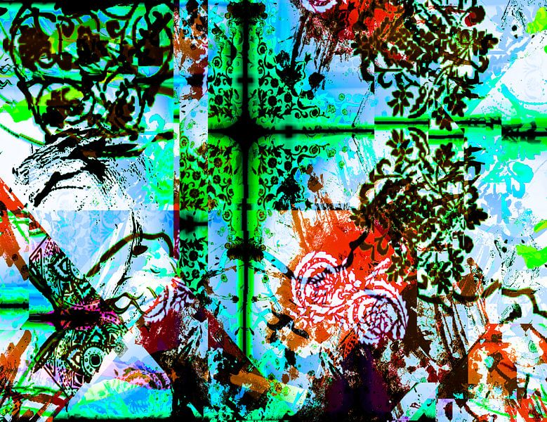 Abstrakt pattern van Rosi Lorz