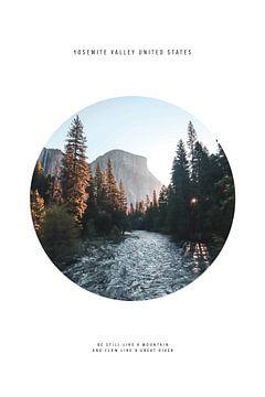 River Mountain Yosemite Valley van Walljar