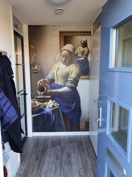 Klantfoto: Het Melkmeisje - Zelfportret, op naadloos behang