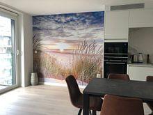Kundenfoto: Sonnenuntergang über dem Strand von Ameland von Karel Pops, auf nahtloser fototapete