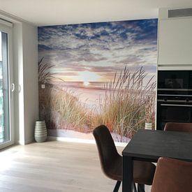 Klantfoto: Strand van Ameland van Karel Pops, als naadloos behang