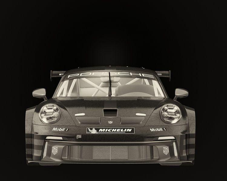 Porsche 911 GT-3 RS - Cup 2021 raceversie voorkant van Jan Keteleer